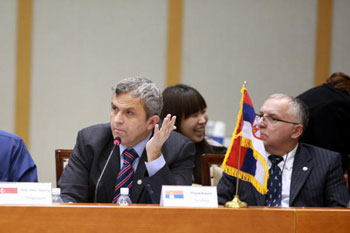 Boris Krivokapic speaking at 9th WoMAU General Meeting, Korea 2010